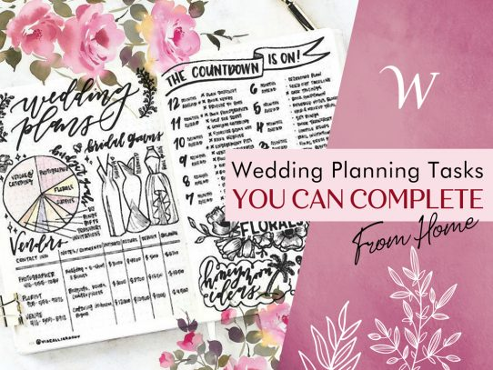 Wedding Planning Tasks You Can Complete From Home